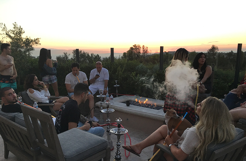 Hookah with friends