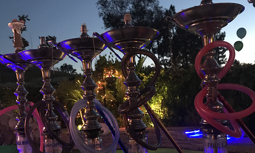 Hookahs by the pool